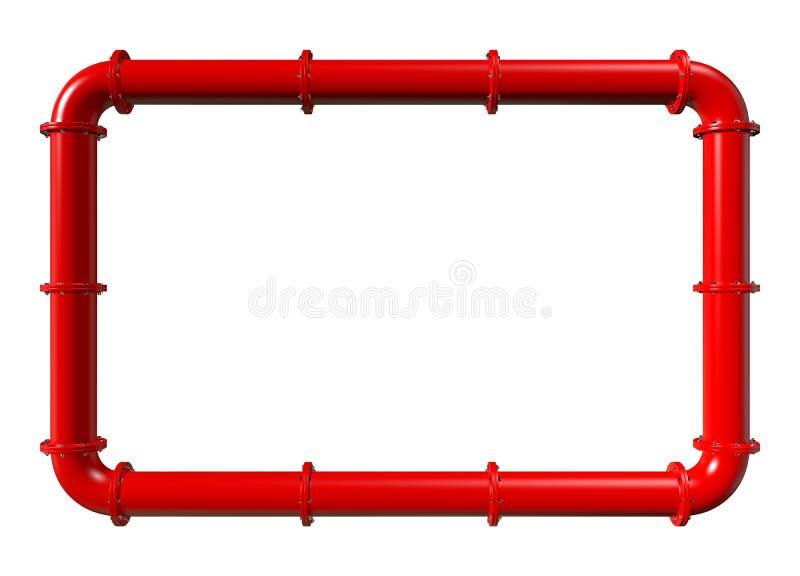 Κόκκινο πυροσβεστικό πλαίσιο σωληνώσεων ελεύθερη απεικόνιση δικαιώματος