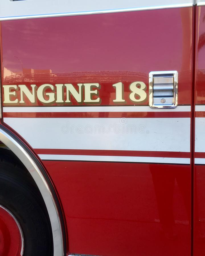 Κόκκινο πυροσβεστικό όχημα στοκ φωτογραφίες με δικαίωμα ελεύθερης χρήσης