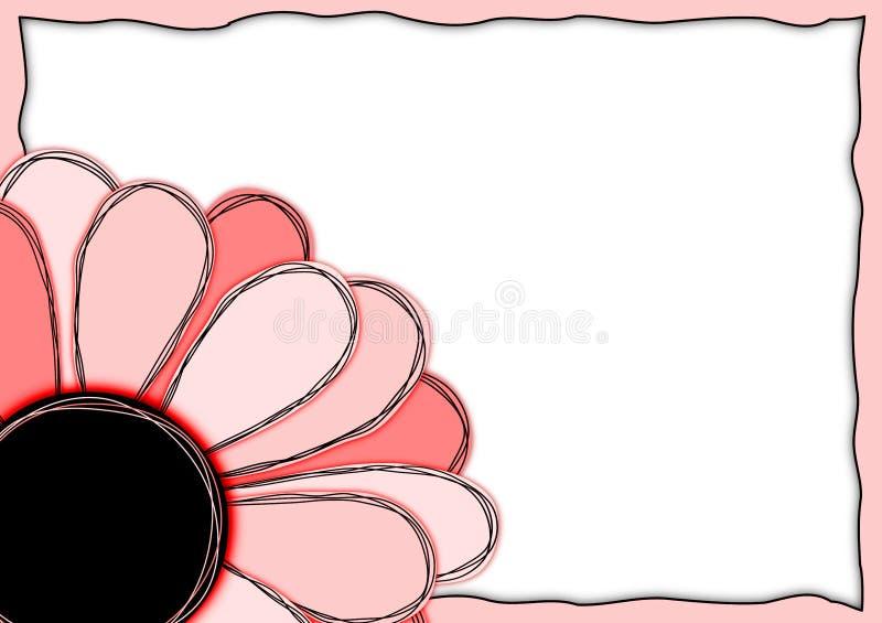 Κόκκινο πλαίσιο λουλουδιών καρτών πρόσκλησης διανυσματική απεικόνιση