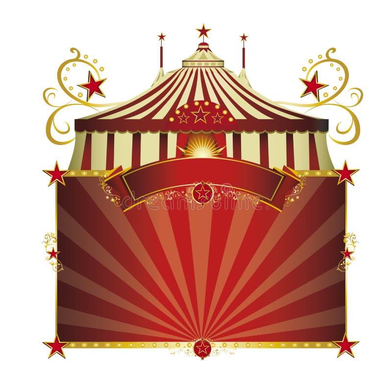 Κόκκινο πλαίσιο τσίρκων απεικόνιση αποθεμάτων