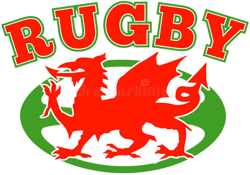 κόκκινο ράγκμπι Ουαλία δ&rho διανυσματική απεικόνιση