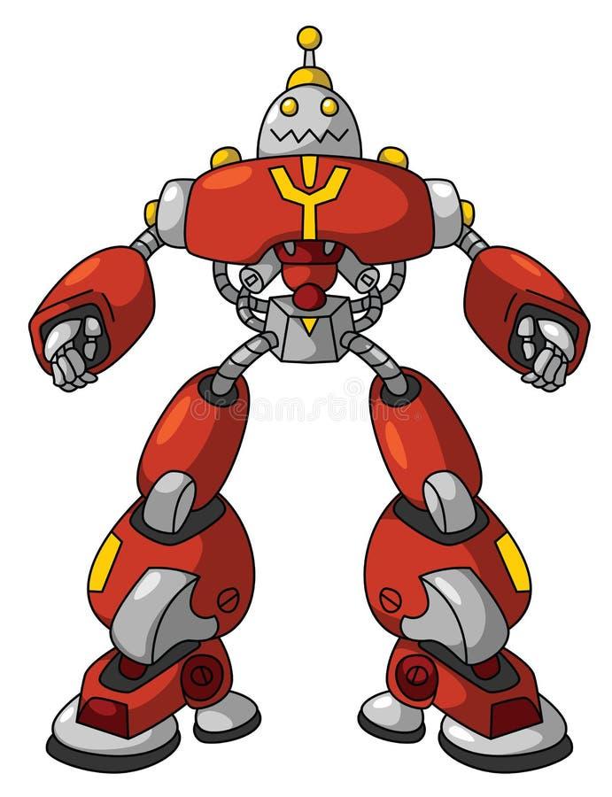 κόκκινο ρομπότ ελεύθερη απεικόνιση δικαιώματος