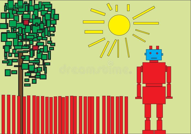 Κόκκινο ρομπότ απεικόνιση αποθεμάτων