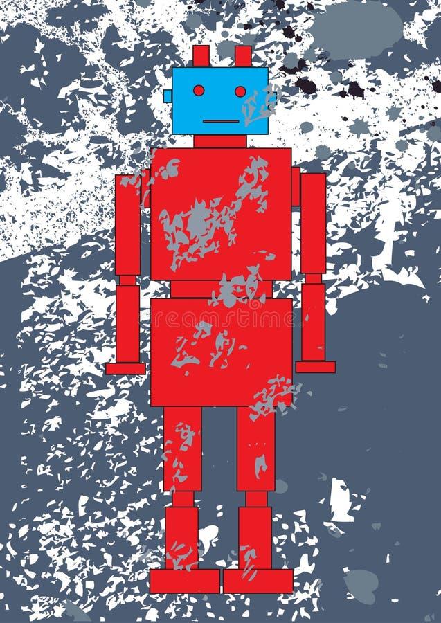 Κόκκινο ρομπότ διανυσματική απεικόνιση