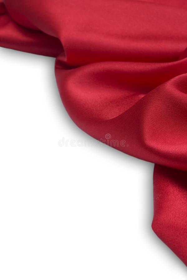 κόκκινο σατέν υφάσματος στοκ φωτογραφία
