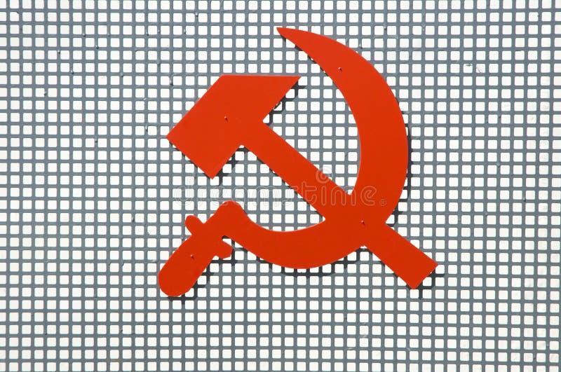 κόκκινο σημάδι κομμουνι&sigm απεικόνιση αποθεμάτων