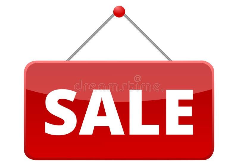 Κόκκινο σημάδι πώλησης διανυσματική απεικόνιση
