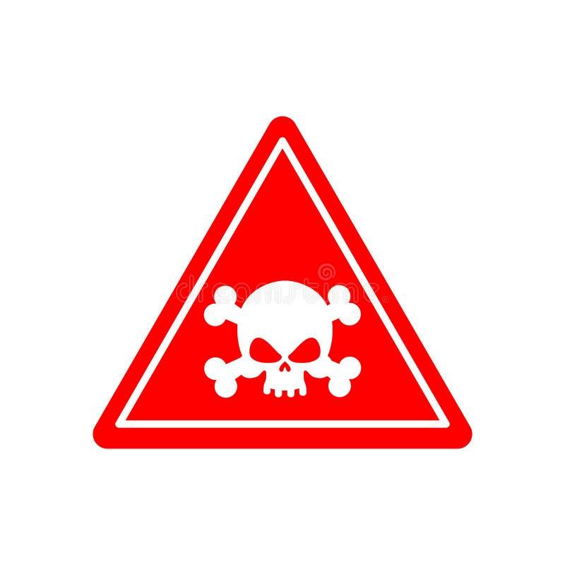 Κόκκινο σημαδιών δηλητήριων κινδύνου Τοξικός κίνδυνος προσοχής Αναχαίτιση προειδοποιητικών σημαδιών ελεύθερη απεικόνιση δικαιώματος