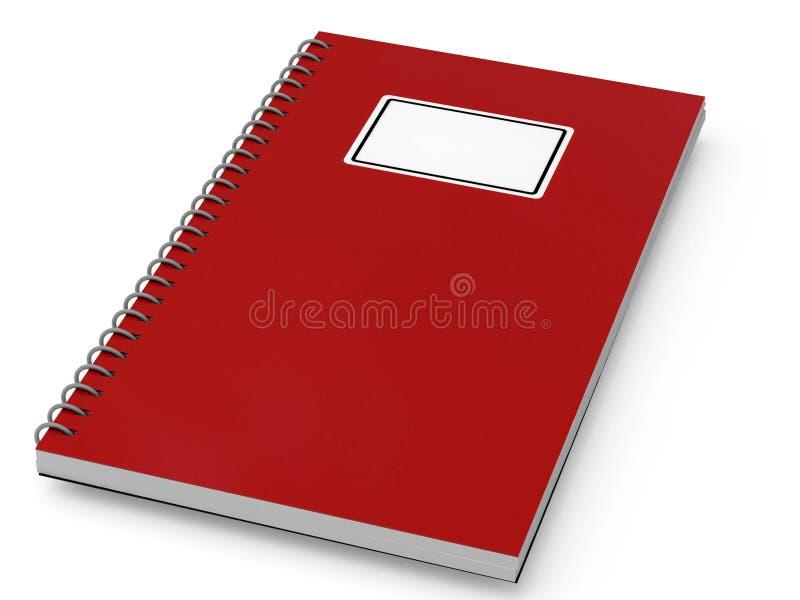 κόκκινο σημειωματάριων διανυσματική απεικόνιση