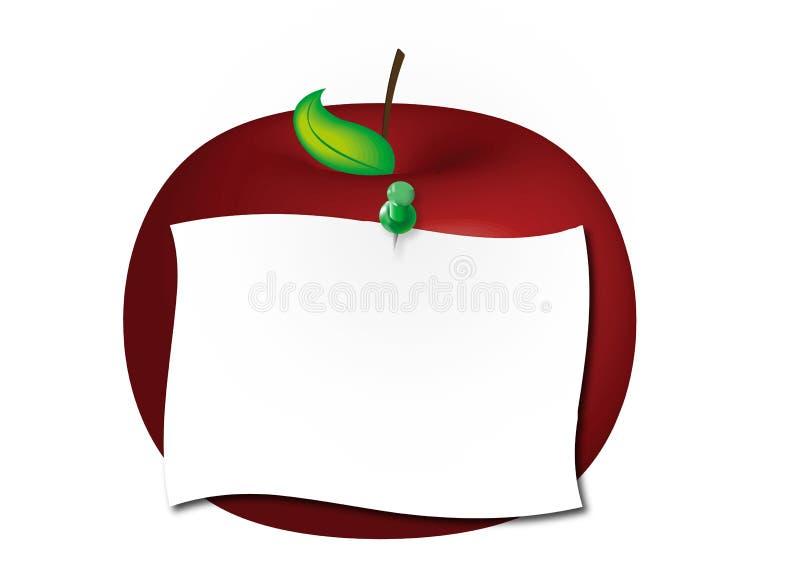 κόκκινο σημειώσεων μήλων απεικόνιση αποθεμάτων