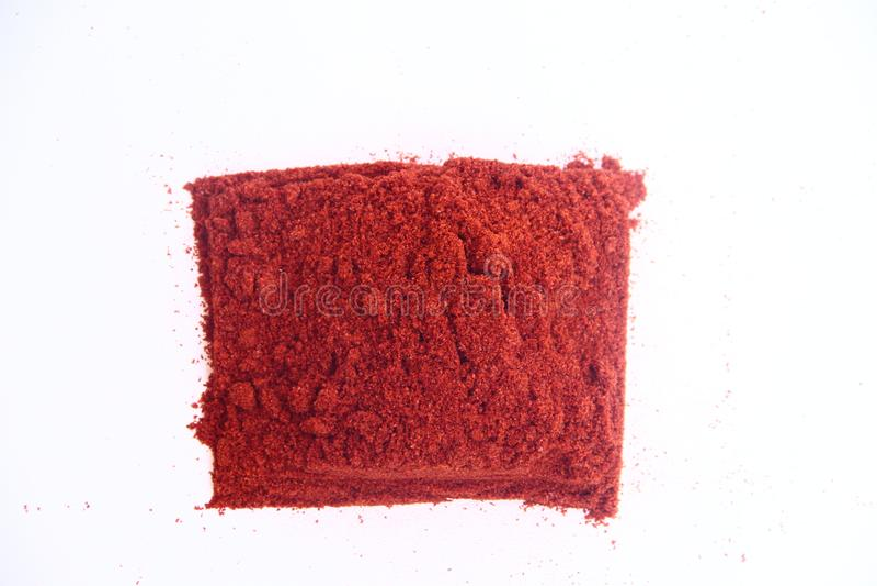 κόκκινο σκονών τσίλι στοκ εικόνα