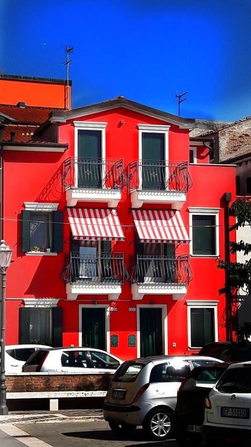 Κόκκινο σπίτι στοκ εικόνα