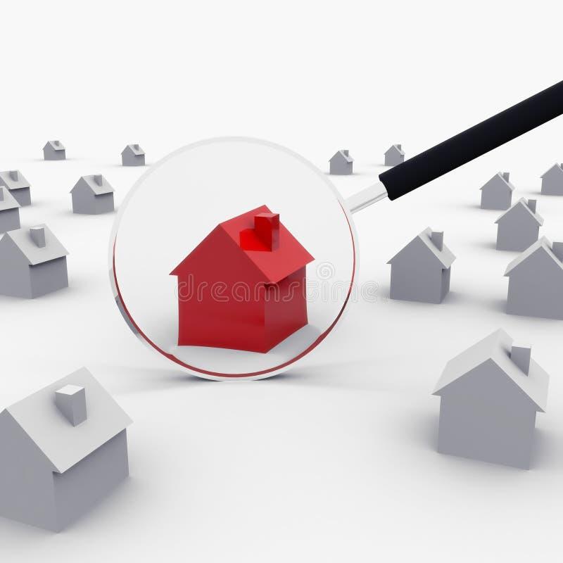 Κόκκινο σπίτι διανυσματική απεικόνιση
