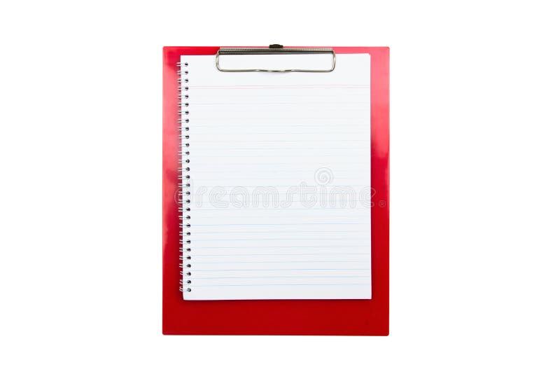 κόκκινο συνδετήρων χαρτ&omicro στοκ εικόνα