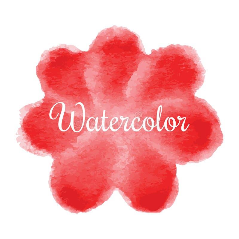 Κόκκινο συρμένο χέρι υπόβαθρο watercolor λουλουδιών απεικόνιση αποθεμάτων