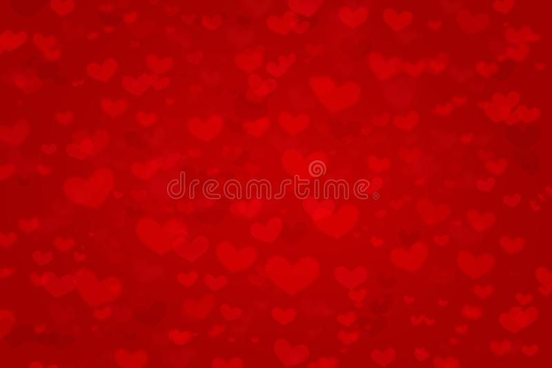 Κόκκινο σχέδιο σύστασης μορφών καρδιών υποβάθρου αγάπης για την αφηρημένη κάρτα δώρων σχεδίου έννοιας ημέρας βαλεντίνων, ευτυχείς στοκ εικόνες