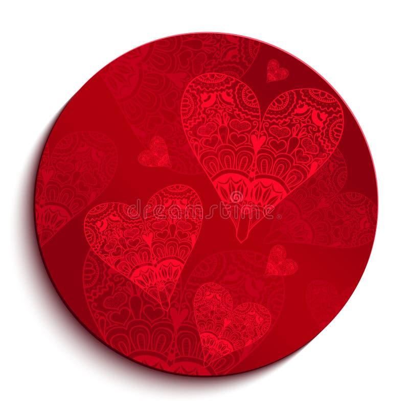 Κόκκινο σχέδιο κύκλων για την ημέρα του βαλεντίνου ελεύθερη απεικόνιση δικαιώματος