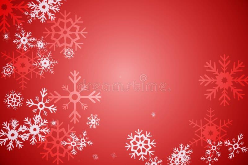 Κόκκινο σχέδιο σχεδίων νιφάδων χιονιού απεικόνιση αποθεμάτων