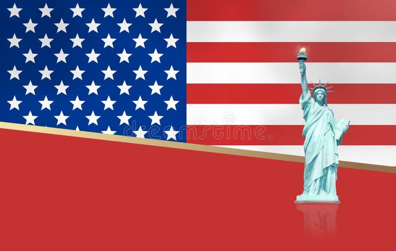 Κόκκινο σχέδιο ύφους των Ηνωμένων Πολιτειών της Αμερικής διανυσματική απεικόνιση