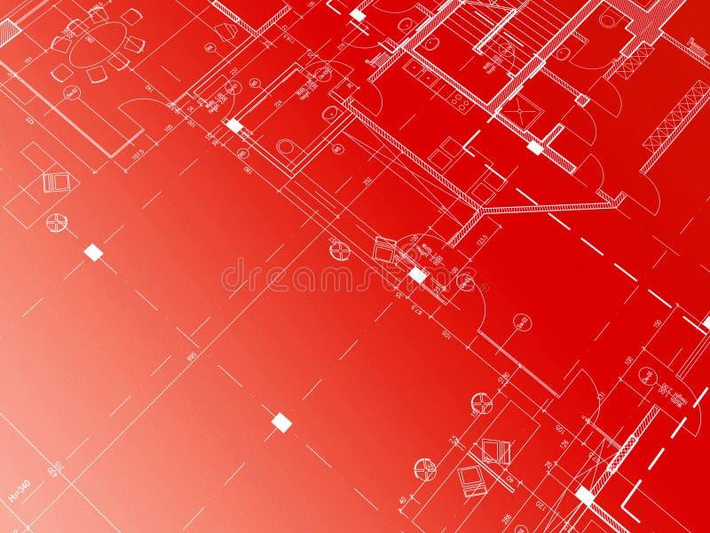 κόκκινο σχεδιαγραμμάτων ελεύθερη απεικόνιση δικαιώματος