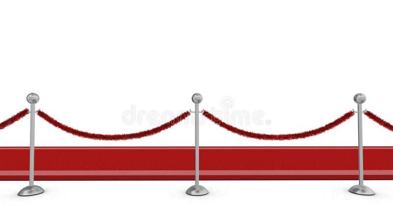 κόκκινο σχοινί ταπήτων εμπ&omi στοκ φωτογραφία με δικαίωμα ελεύθερης χρήσης