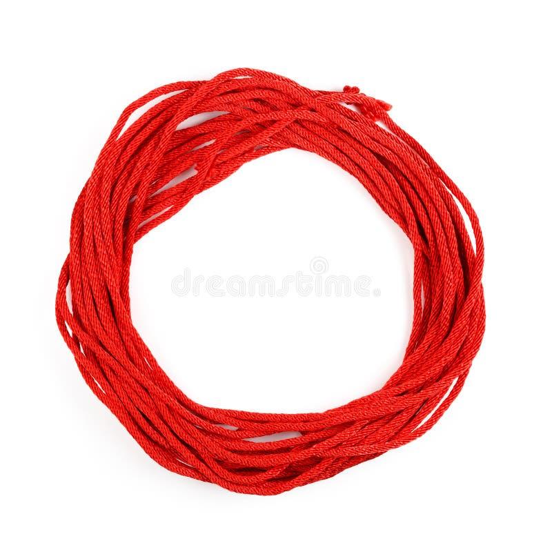 Κόκκινο σχοινί στοκ εικόνα