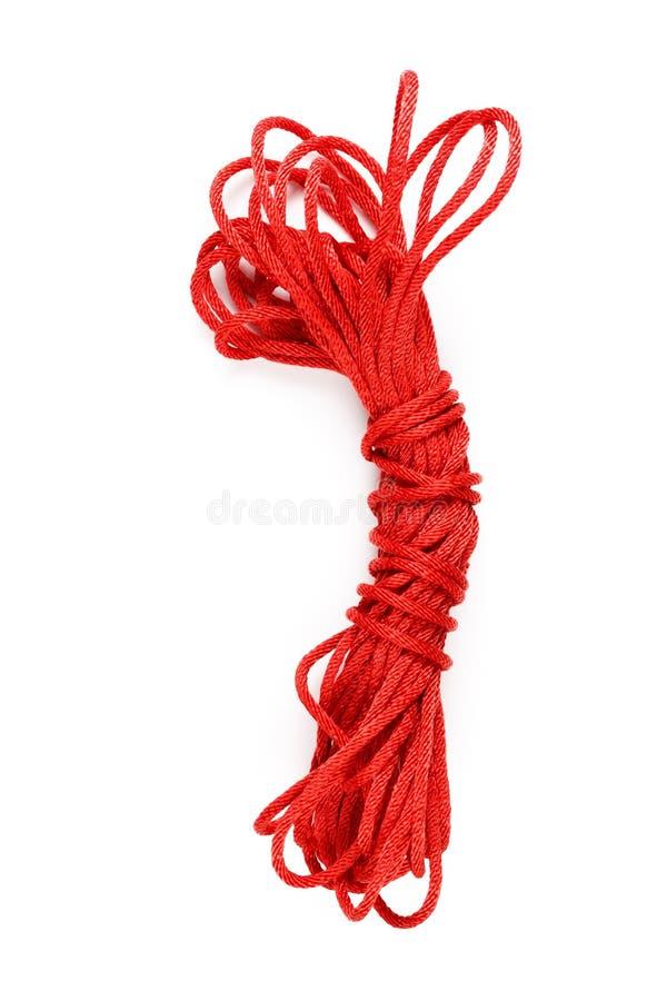 Κόκκινο σχοινί στοκ εικόνες με δικαίωμα ελεύθερης χρήσης