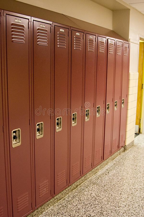 κόκκινο σχολείο ντουλ&alp στοκ φωτογραφία