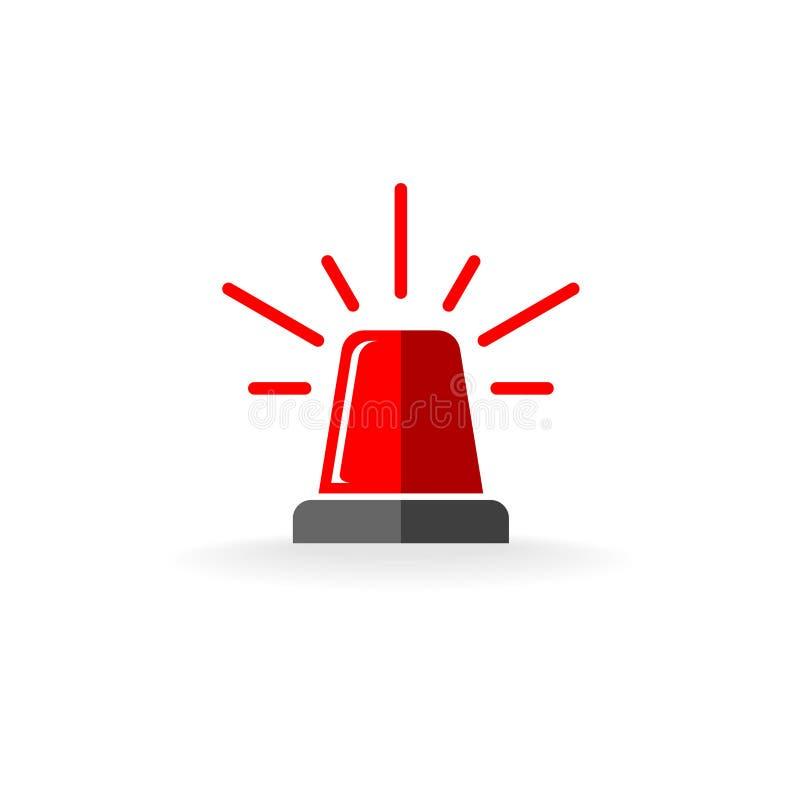 Κόκκινο σύμβολο αναλαμπτήρων απεικόνιση αποθεμάτων