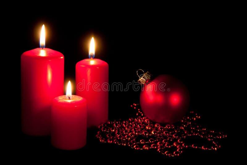 κόκκινο σύνολο τρία Χριστ&o στοκ εικόνα