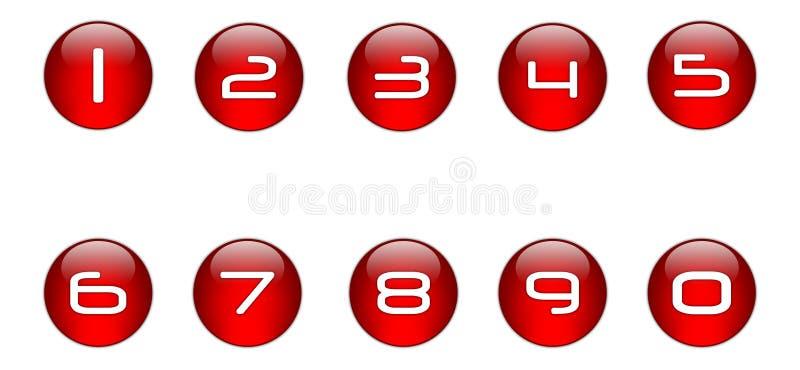 κόκκινο σύνολο 01 αριθμών ε& απεικόνιση αποθεμάτων