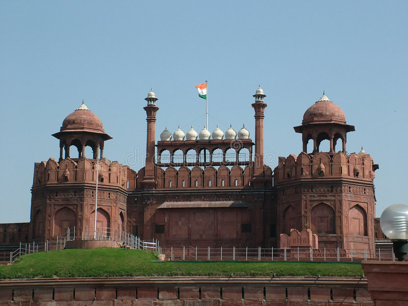 κόκκινο της Ινδίας οχυρών & στοκ φωτογραφίες με δικαίωμα ελεύθερης χρήσης