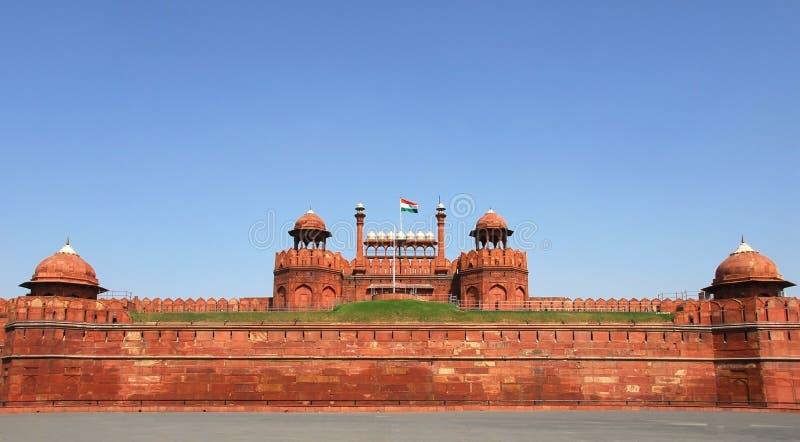 κόκκινο της Ινδίας οχυρών & στοκ φωτογραφία