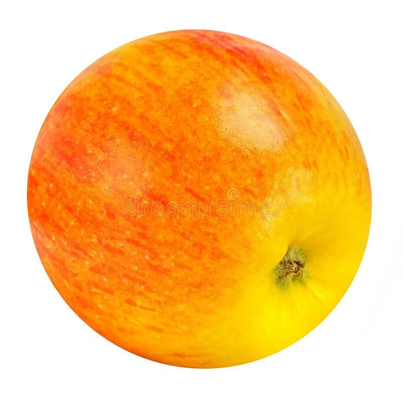 Κόκκινο της Apple με κίτρινο Ο ιδανικός κύκλος στοκ εικόνες με δικαίωμα ελεύθερης χρήσης