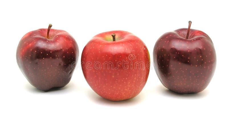 κόκκινο τρία μήλων στοκ φωτογραφία