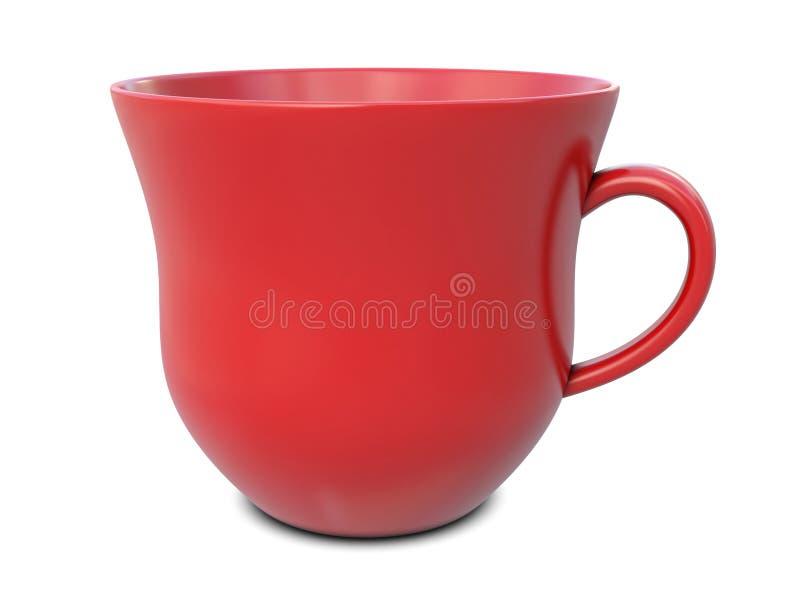 κόκκινο τσάι κουπών απεικόνιση αποθεμάτων