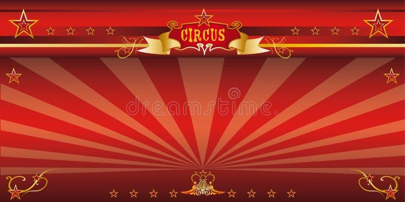 Κόκκινο τσίρκο πρόσκλησης διανυσματική απεικόνιση