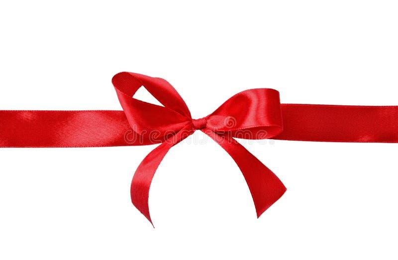 Κόκκινο τόξο δώρων σατέν στοκ φωτογραφία με δικαίωμα ελεύθερης χρήσης