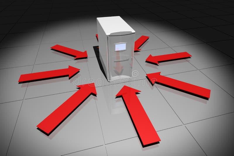 κόκκινο υπολογιστών βε&la απεικόνιση αποθεμάτων