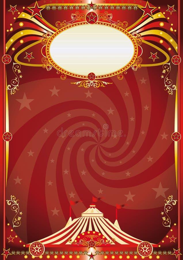Κόκκινο υπόβαθρο δίνης τσίρκων στοκ φωτογραφίες με δικαίωμα ελεύθερης χρήσης