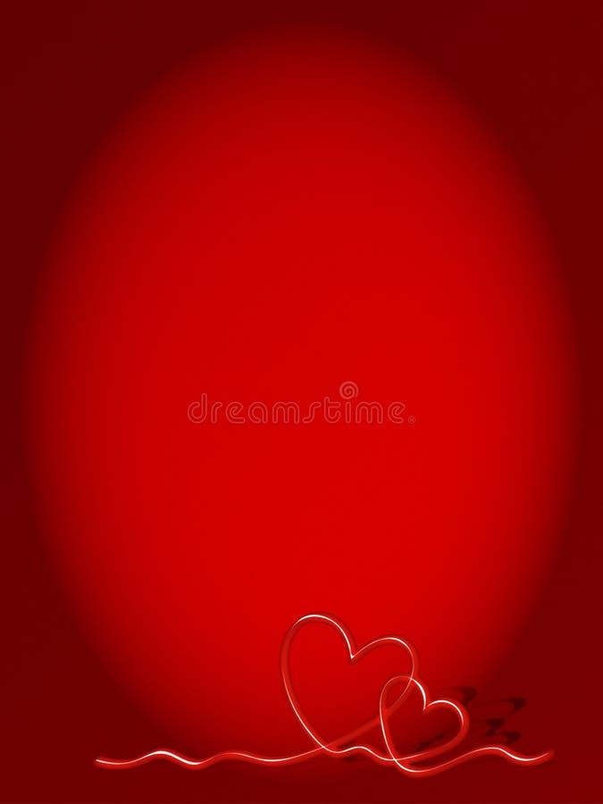 Κόκκινο υπόβαθρο βαλεντίνων καρδιών απεικόνιση αποθεμάτων