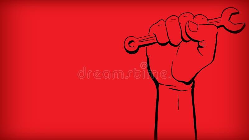 Κόκκινο υπόβαθρο ημέρας ημέρας Μαΐου leber με το μαύρο υπόβαθρο κλίσης χ στοκ φωτογραφία με δικαίωμα ελεύθερης χρήσης