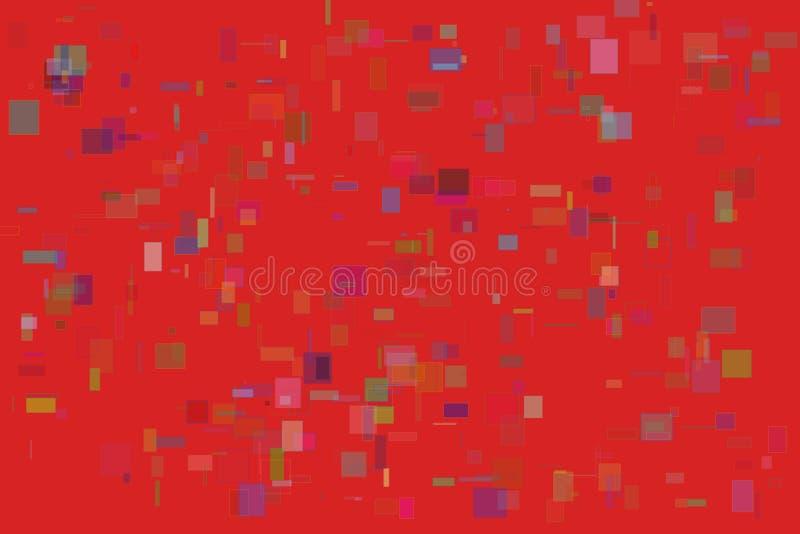 Κόκκινο υπόβαθρο ορθογωνίων ελεύθερη απεικόνιση δικαιώματος