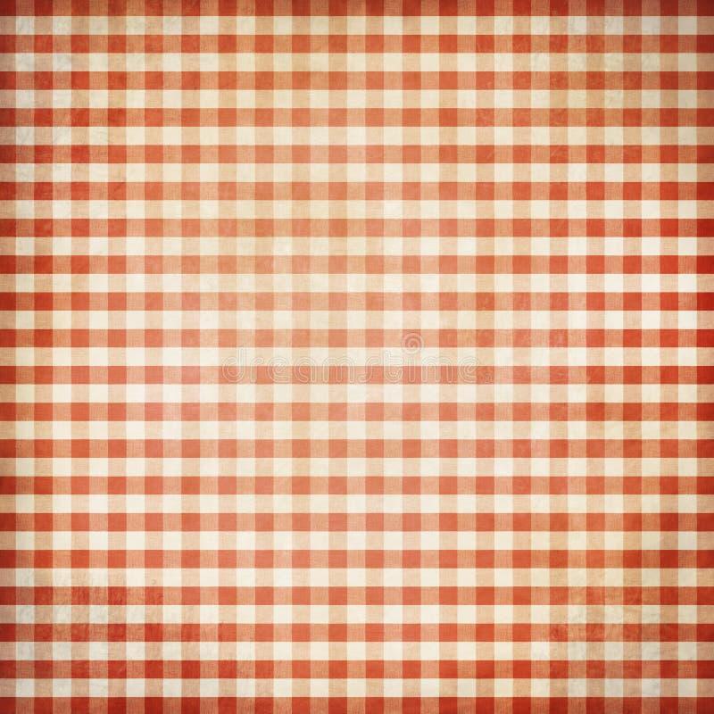 Κόκκινο υπόβαθρο τραπεζομάντιλων πικ-νίκ grunge στοκ εικόνα με δικαίωμα ελεύθερης χρήσης