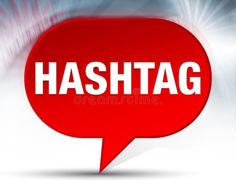 Κόκκινο υπόβαθρο φυσαλίδων Hashtag απεικόνιση αποθεμάτων