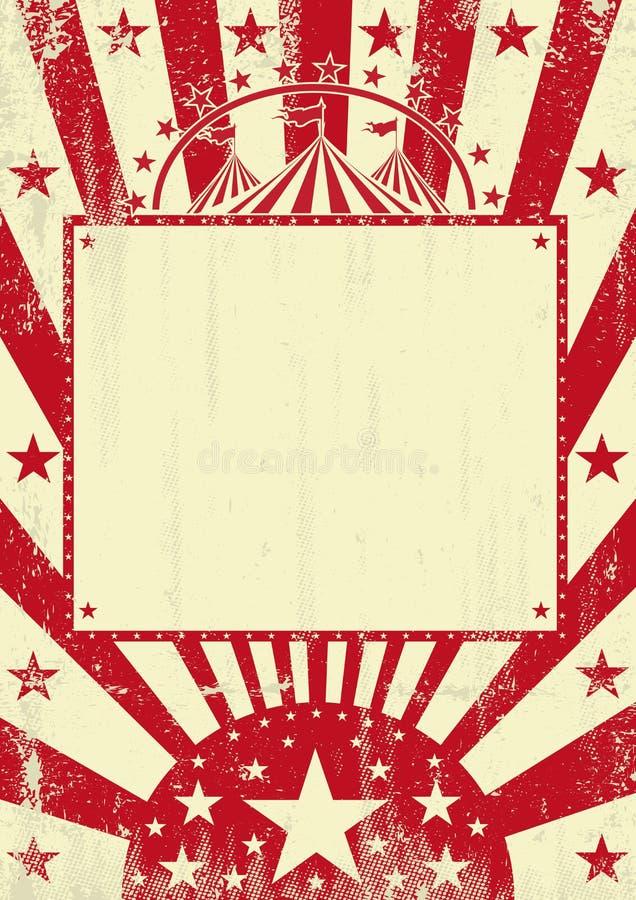 Κόκκινο υπόβαθρο grunge τσίρκων ελεύθερη απεικόνιση δικαιώματος