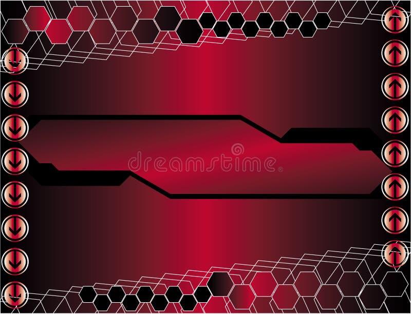 κόκκινο υψηλής τεχνολο&g διανυσματική απεικόνιση