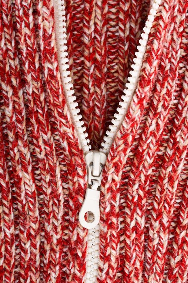 κόκκινο φερμουάρ μαλλι&omicro στοκ φωτογραφίες