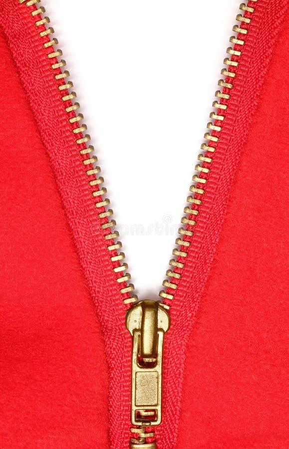 κόκκινο φερμουάρ στοκ φωτογραφία με δικαίωμα ελεύθερης χρήσης