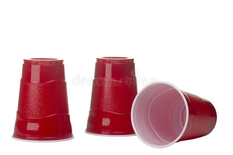 κόκκινο φλυτζανιών στοκ εικόνα με δικαίωμα ελεύθερης χρήσης